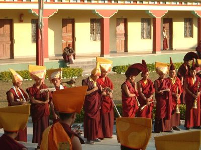 Monks at Ngor Monastery